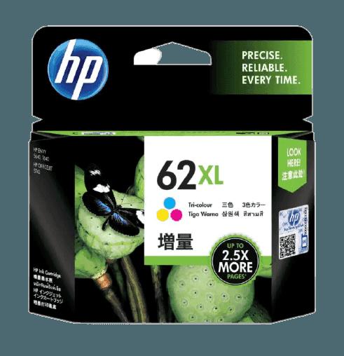 HP 62XL 대용량 3색 정품 잉크 카트리지