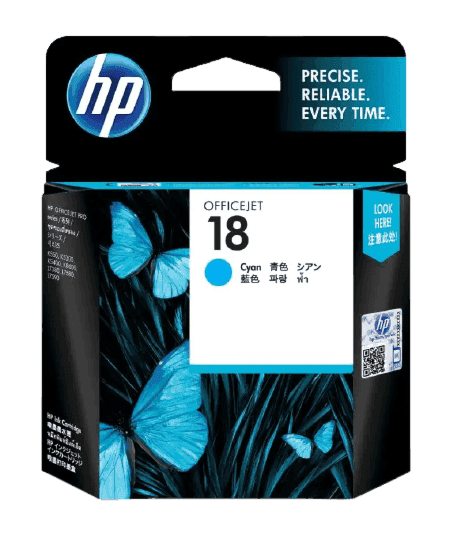 HP 18 시안 정품 잉크 카트리지