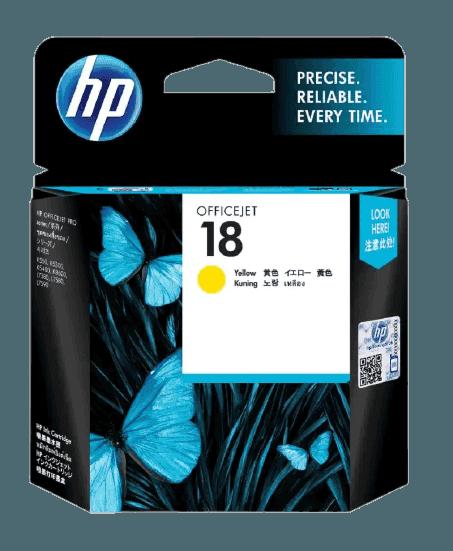 HP 18 노랑 정품 잉크 카트리지