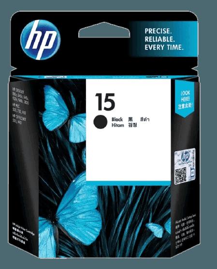 HP 15 검정 정품 잉크 카트리지
