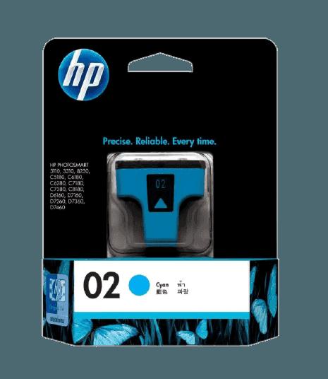 HP 02 시안 정품 잉크 카트리지