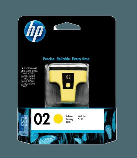 HP 02 노랑 정품 잉크 카트리지