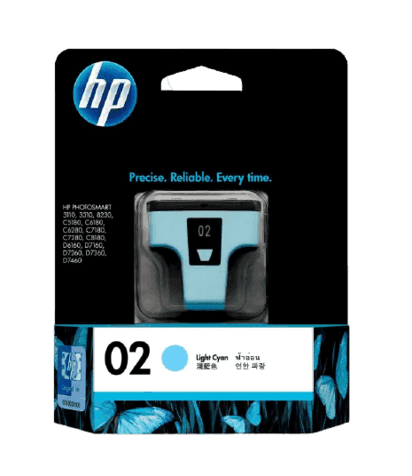 HP 02 라이트 시안 정품 잉크 카트리지
