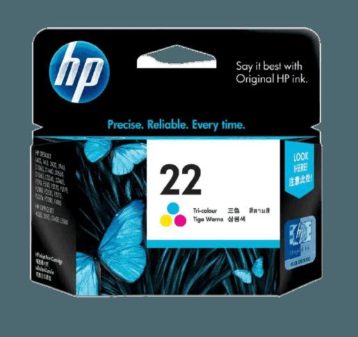 HP 22 Tri-color Original Ink Cartridge