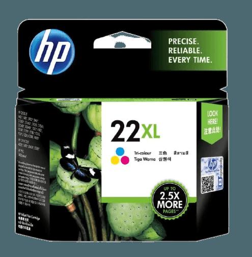 HP 22XL 3색 정품 잉크 카트리지