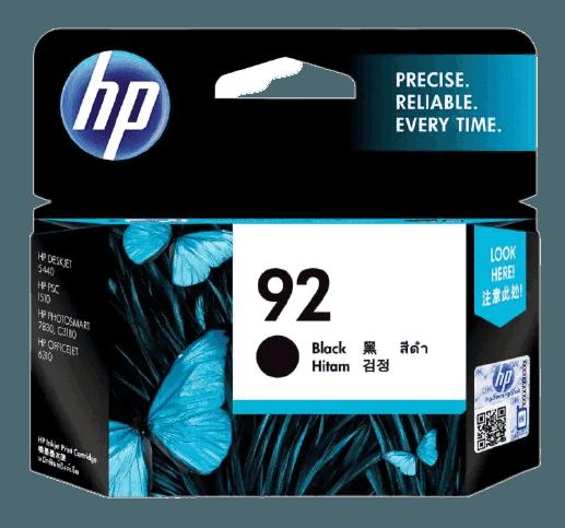 HP 92 검정 정품 잉크 카트리지