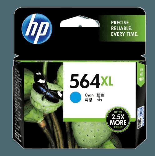 HP 564XL High Yield Cyan Original Ink Cartridge