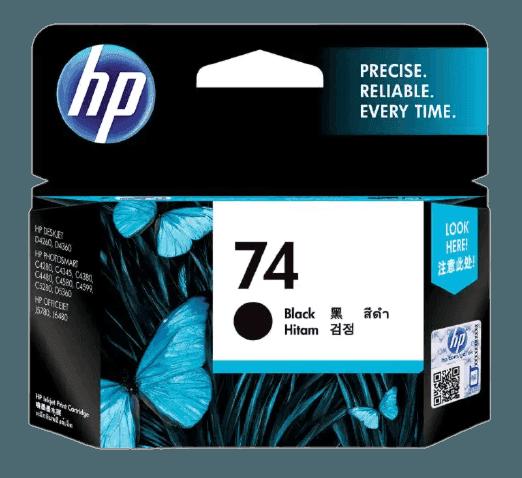 HP 74 검정 정품 잉크 카트리지