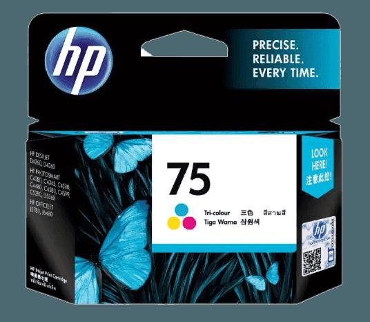 HP 75 3색 정품 잉크 카트리지