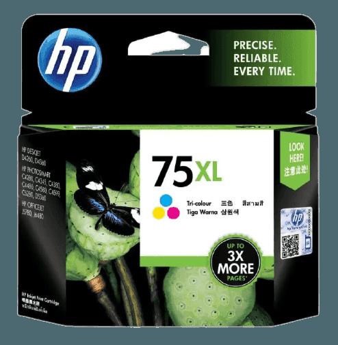 HP 75XL 대용량 3색 정품 잉크 카트리지