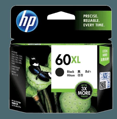 HP 60XL 대용량 검정 정품 잉크 카트리지