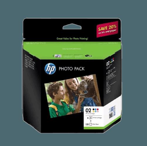 HP 02 시리즈 포토 팩-120매/10 x 15cm