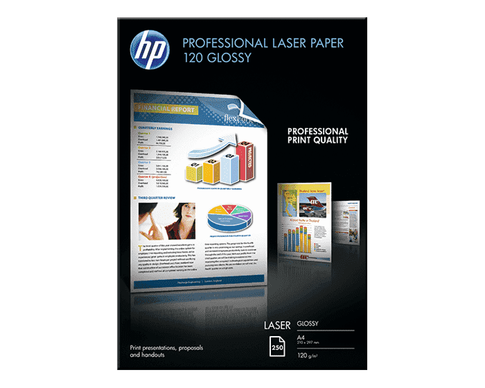 HP 전문가용 광택 레이저 용지 120gsm-250매/A4/210 x 297mm
