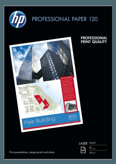 HP 전문가용 광택 레이저 용지 120gsm-250매/A3/297 x 420mm