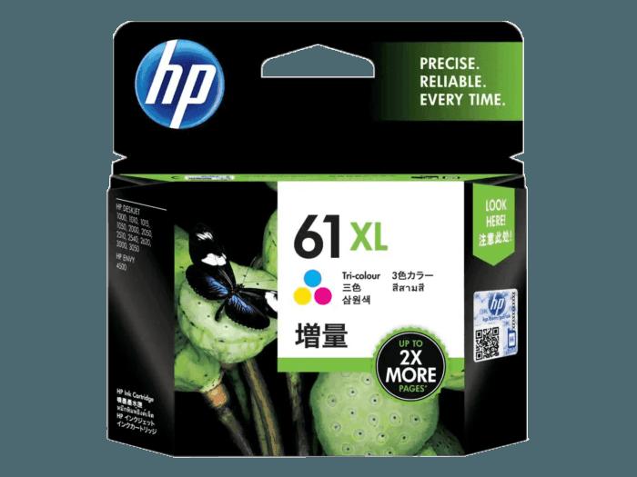 HP 61XL 대용량 3색 정품 잉크 카트리지