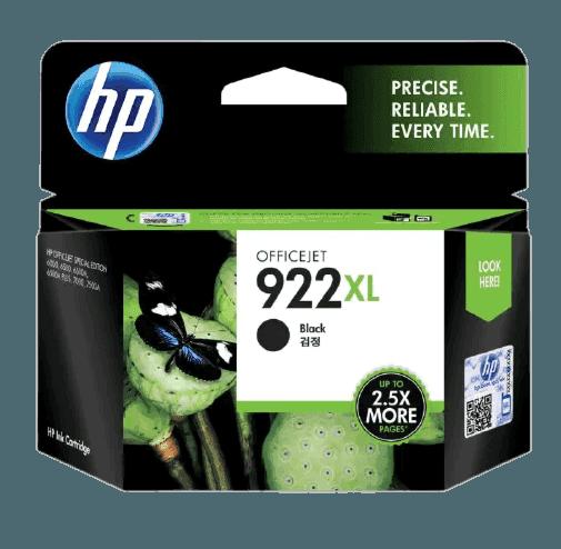 HP 922XL 대용량 검정 정품 잉크 카트리지