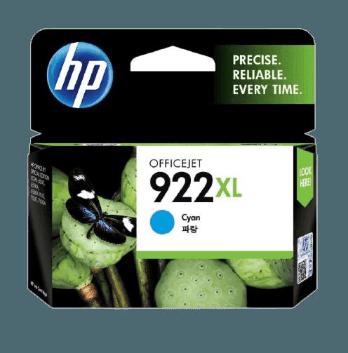 HP 922XL 대용량 시안 정품 잉크 카트리지
