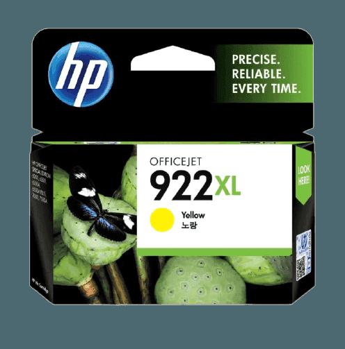 HP 922XL 대용량 노랑 정품 잉크 카트리지