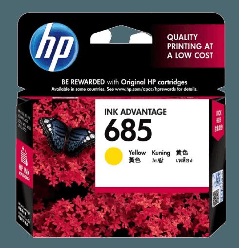 HP 685 노랑 정품 잉크 고급 카트리지