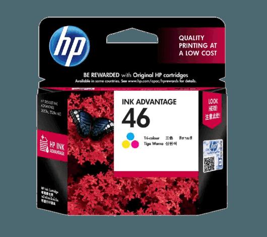 HP 46 3색 정품 잉크 어드밴티지 카트리지