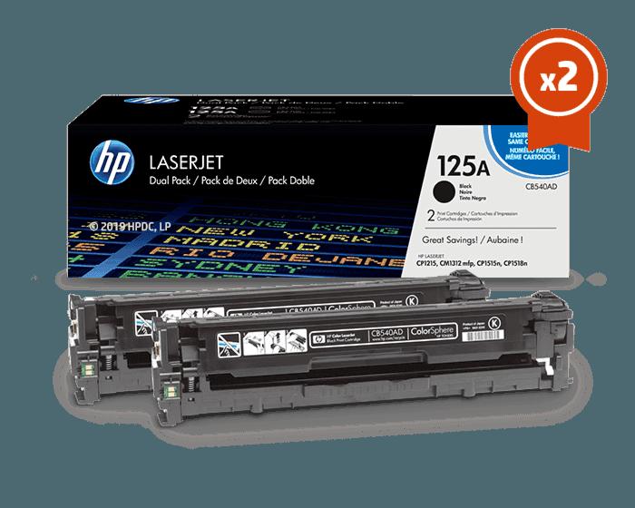 HP 125A 2팩 검정 정품 레이저젯 토너 카트리지