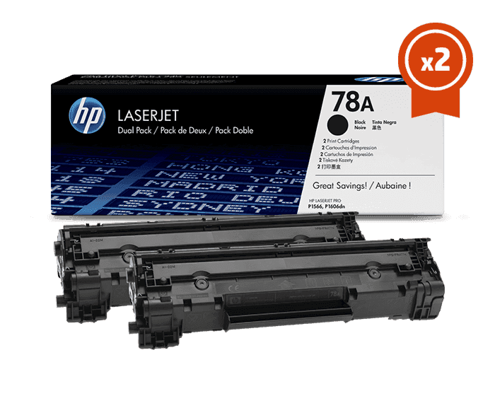 HP 78A 2-pack Black Original LaserJet Toner Cartridges
