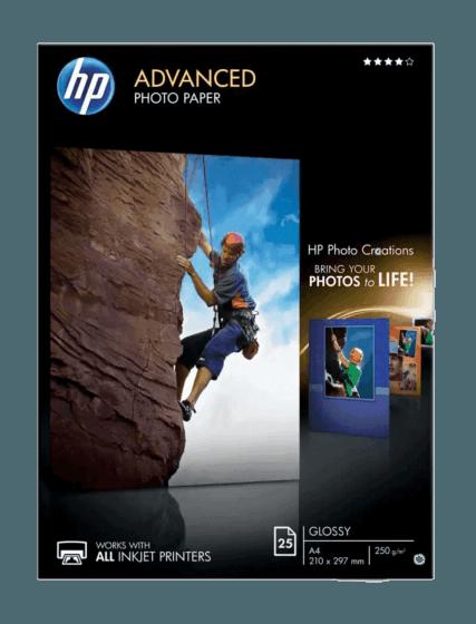 HP 고급 광택 포토용지 - 25매/A4/210x297mm