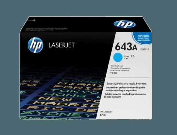 HP 643A 시안 정품 레이저젯 토너 카트리지