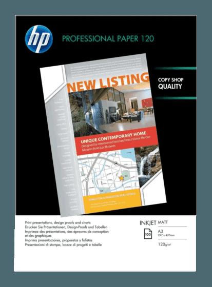 HP 전문가용 무광택 잉크젯 용지-200매/A4/210 x 297 mm