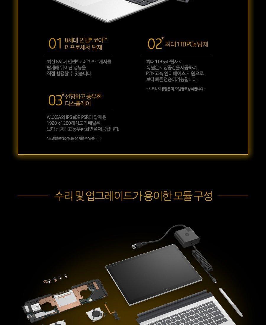 HP Elite x2 G4 태블릿
